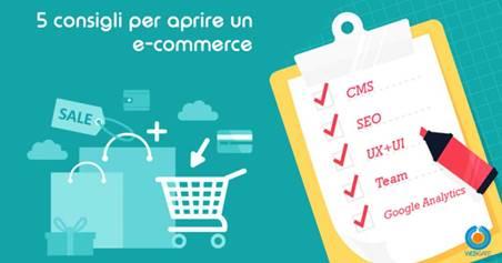 5 consigli per aprire un e-commerce