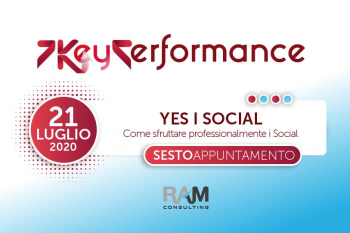 YES I SOCIAL: come sfruttare professionalmente i Social. Il 6° appuntamento della 7KP