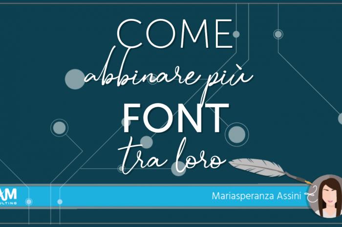 Come abbinare più  font tra loro