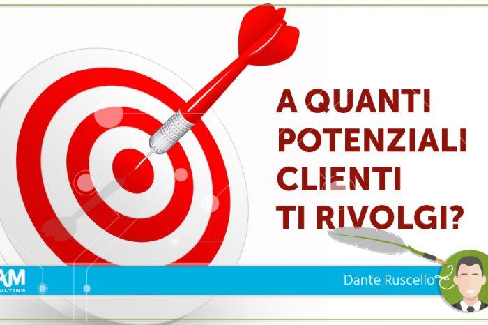 A quanti potenziali clienti ti rivolgi?