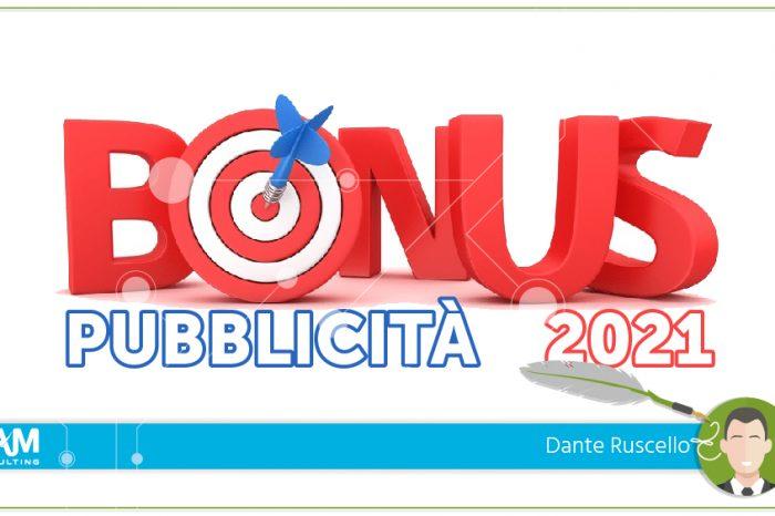 Bonus Pubblicità 2021: scadenza il 31 ottobre